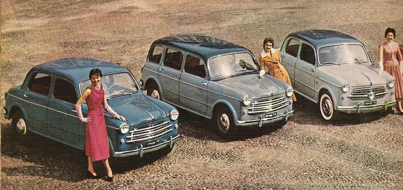Varie versioni della 1100-103 da sx 103 B berlina Familiare Berlina TV Turismo Veloce