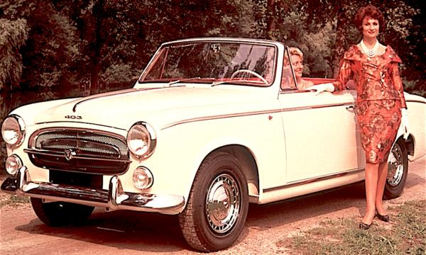 PEUGEOT 403 convertible (1955) – Francia
